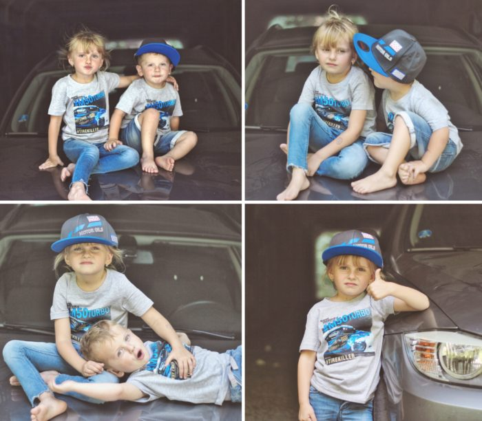 Dětské tričko BMW Vrakoviště M50 Turbo - ŠEDÉ